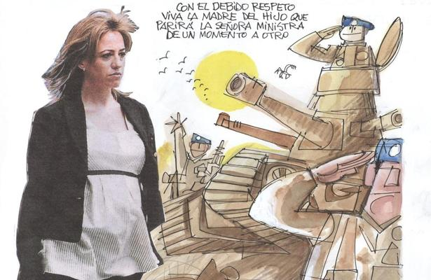 La emotiva viñeta, que Mingote le dedicó a Carmen Chacón