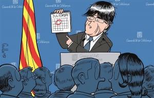Personalidades catalanas piden a la Generalidad que aborte el referéndum